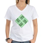 Green is the New Fascism Women's V-Neck T-Shirt