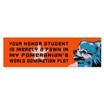 Pomeranian World Domination Bumper Sticker