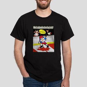 Hockey Farm Boy Black T-Shirt