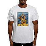 Till We Meet Again Poster Art Ash Grey T-Shirt