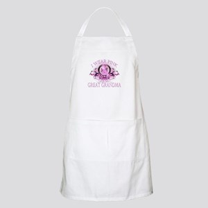 I Wear Pink for my Great Grandma (floral) Apron