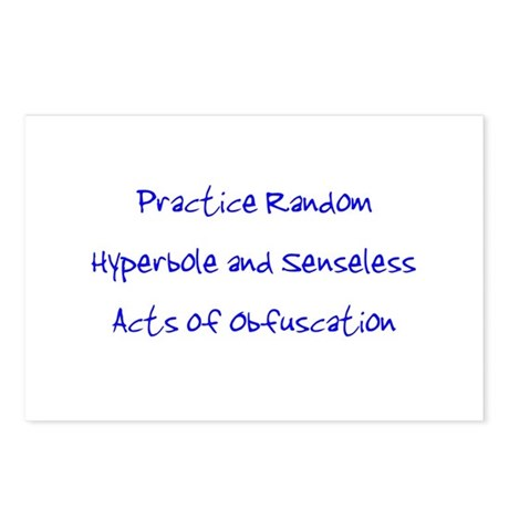 Hyperbole & Obfuscation Postcards (Package of 8)