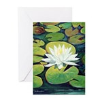 Riccoboni Water Lily Greeting Cards (Pk of 20)