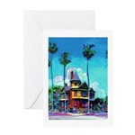 San Diego Victorian Mansion Greeting Card