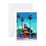 San Diego Victorian Mansion Greeting Cards (Pk of