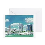 San Diego Marina Greeting Cards (Pk of 20)