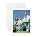 Victorian Cottages Greeting Card