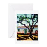 Pepper Tree and Adobe Greeting Card