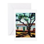 Pepper Tree and Adobe Greeting Cards (Pk of 10)