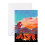 California Sunset by Riccoboni Greeting Cards (Pk