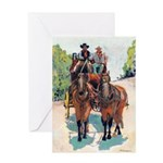 Stagecoach Days by Riccoboni Greeting Card