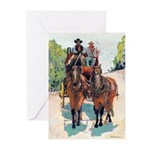 Stagecoach Days by Riccoboni Greeting Cards (Pk of