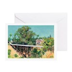 Bridge over canyon Greeting Cards (Pk of 10)