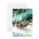 Stagecoach by RD Riccoboni Greeting Card