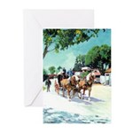 Stagecoach by RD Riccoboni Greeting Cards (Pk of 1