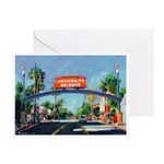 University Heights Sign Greeting Card