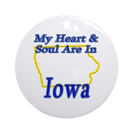 Heart & Soul - Iowa Ornament (Round)