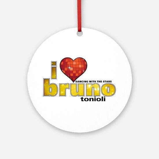 I Heart Bruno Tonioli Round Ornament