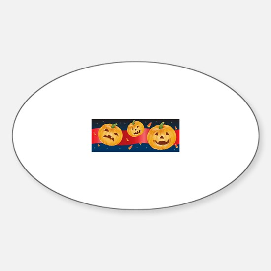 HALLOWEEN JACK-O-LANTERNS Sticker (Oval)