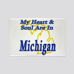 Heart & Soul - Michigan Rectangle Magnet
