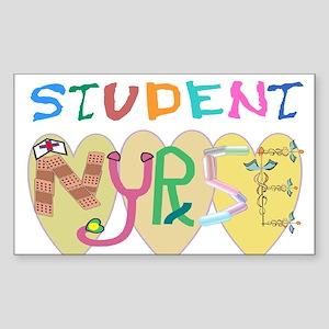 Nursing Student Sticker (Rectangle 10 pk)
