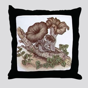 Black Trumpets Throw Pillow