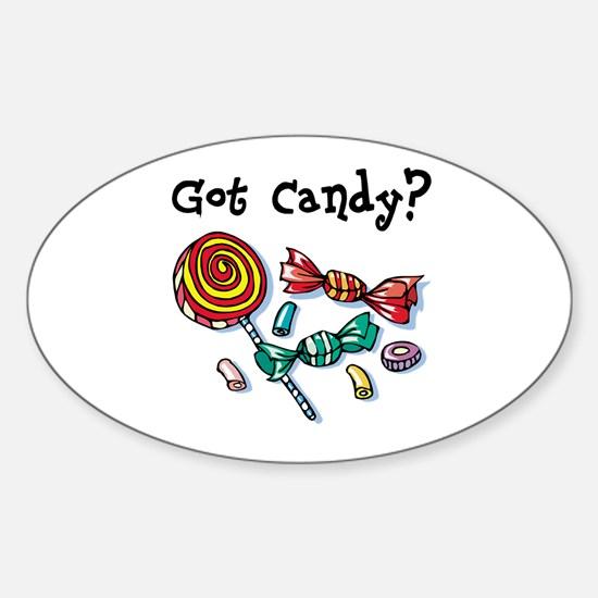 Got Candy Sticker (Oval)