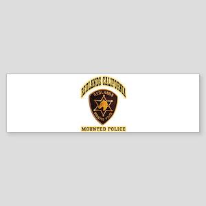 Redlands Mounted Police Sticker (Bumper 10 pk)