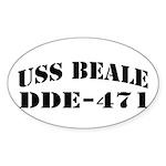 USS BEALE Sticker (Oval)