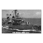 USS BEALE Sticker (Rectangle)