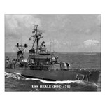 USS BEALE Small Poster