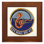 USS BEALE Framed Tile