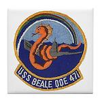 USS BEALE Tile Coaster