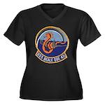 USS BEALE Women's Plus Size V-Neck Dark T-Shirt