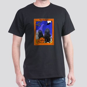 Newfoundland Dog Halloween Dark T-Shirt