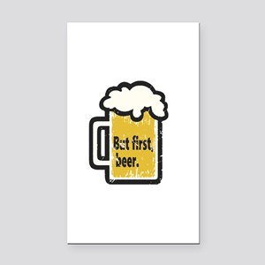 But First Beer Rectangle Car Magnet
