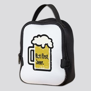 But First Beer Neoprene Lunch Bag