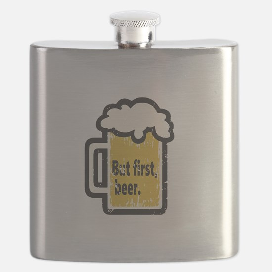 But First Beer Flask