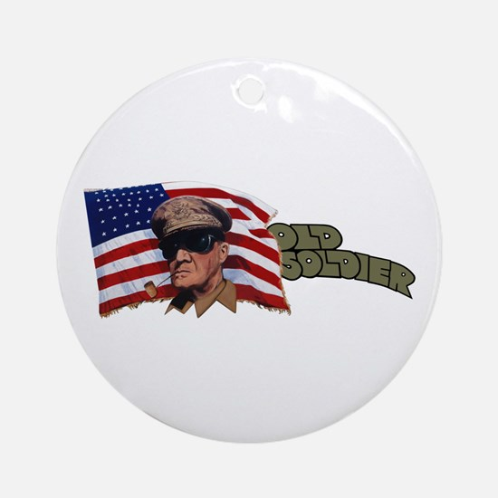 Old Soldier Ornament (Round)