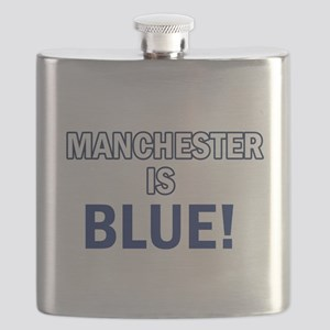 manchester is blue Flask