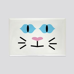 Blue-eyed Cat Rectangle Magnet