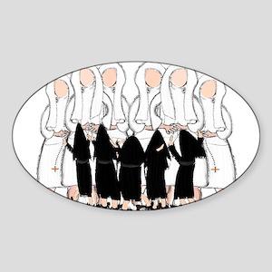 Nuns Jubilee Sticker (Oval)