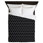 Blackened Hearts Queen Duvet Cover