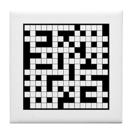 Crossword Cafe Tile Coaster