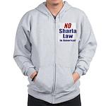 NO Sharia Law in America Zip Hoodie