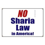 NO Sharia Law in America Banner