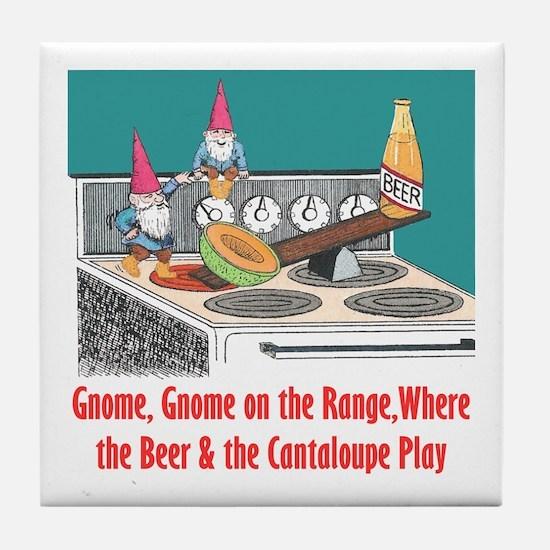 Gnome on the Range Tile Coaster