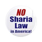 """NO Sharia Law in America 3.5"""" Button"""