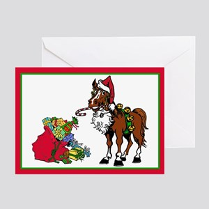 Santa's Helper Horse Greeting Cards (Pk of 10)