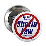 """NO Sharia Law in America 2.25"""" Button (10 pk)"""